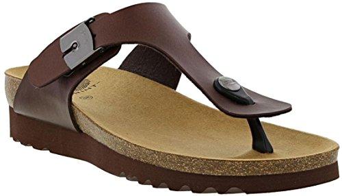 Scholl Boa Vista Up Womens Toe Post Sandals Brown / F270821011 ux5kq8V