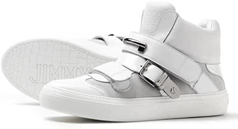 Jimmy Choo Barclay 'Soft Calf Leather, Patent Leather & Suede' High-Top Trainer Size 45 EU 12 US