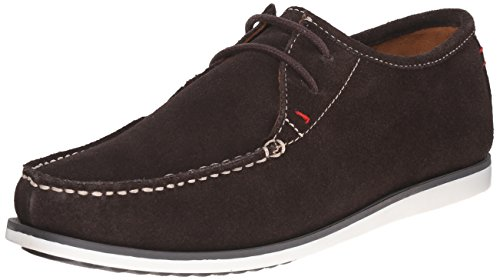 Hush Puppies Men's Briggs Portland Moccasin, Dark Brown Suede, 13 M US