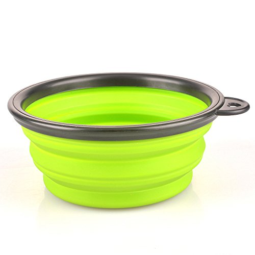 2015 Hot Luxury Pet Silica Gel Bowl Pet Dog Folding Portable Bowls For Dog Feeders 6 Colors Available^Green.