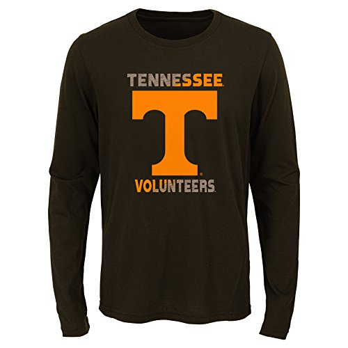 Tennessee Volunteers Sleeve Long (Gen 2 NCAA Tennessee Volunteers Youth Boys Flux Long Sleeve Ultra Tee, Youth Boys Medium(10-12), Black)
