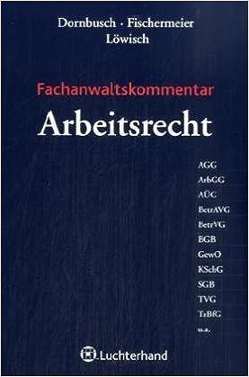 Fachanwaltskommentar Arbeitsrecht Amazonde Gregor Dornbusch