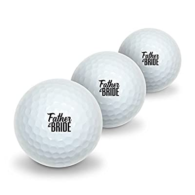 Father of the Bride Wedding Novelty Golf Balls 3 Pack