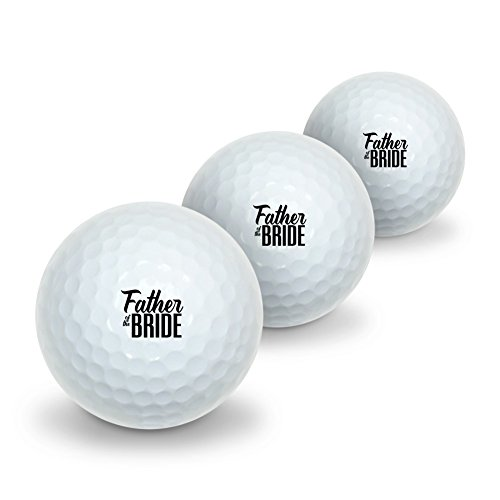 Father of the Bride Wedding Novelty Golf Balls 3 Pack by Graphics and More (Image #3)