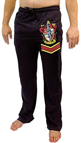 [Harry Potter Gryffindor Crest Adult Black Lounge Pants (X-Large)] (Hogwarts Robes Gryffindor)