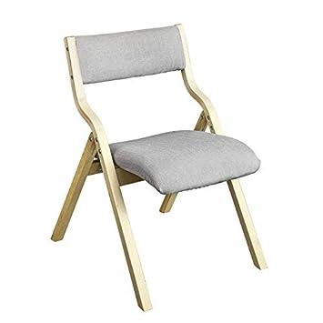 SoBuy - Silla de madera acolchada plegable FST40-HG para el comedor o el escritorio de la oficina: Amazon.es: Hogar
