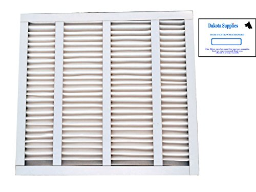 Dakota Supplies (Case of 12) 19-7/8 x 21-1/2 x 1 19-7/8x21-1/2x1 19 7/8 x 21 ½ x 1 MERV 8 Pleated AC Furnace Replacement Filter for Bryant Carrier Payne Air Handlers with Installation Date Stickers (Handlers Air Bryant)