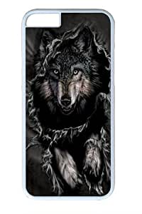 Breakthrough Wolf Polycarbonate Hard Case Cover for iphone 5 5s inch White