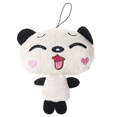 Mimgo Kawaii Mini Panda Papa Mascot Doll Plush Toy Pendant Mobile Phone Charm
