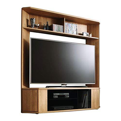 コーナーにもフィット 壁面収納 テレビ台 幅150 (オークナチュラル) / 65型 ハイタイプ テレビボード 大型 B07DWLDZ9T オークナチュラル