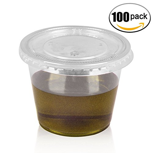 springpack 4oz - sets of 100 - Plastic Cups with Plastic Lids Slime Containers