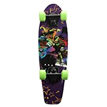 PlayWheels Teenage Mutant Ninja Turtles 21 Wood Cruiser Skateboard - Turtle Life Graphic