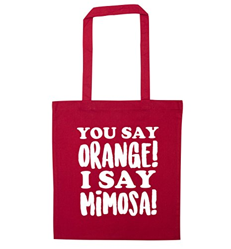 say mimosa You Flox Creative say I Red Tote orange Bag dIqqw4