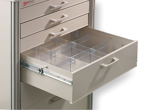 (Metro (InterMetro) / Emerson - MBA116 - Clear Drawer Divider Kit, 5-3/16 Height)