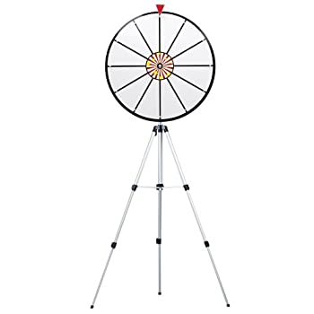 Image of Casino Prize Wheels 24 Inch White Dry Erase Prize Wheel with Stand By Midway Monsters
