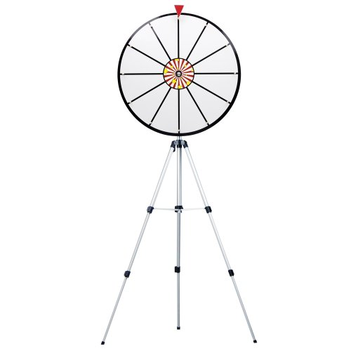 24 Inch White Dry Erase Prize Wheel with Stand By Midway Monsters by Brybelly