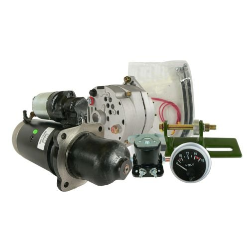 DB Electrical AKT0017 New Alternator Starter Conversion Kit For John Deere Tractor 3010 3020 4010 4020 24 to 12 volt SE501474 TY16172