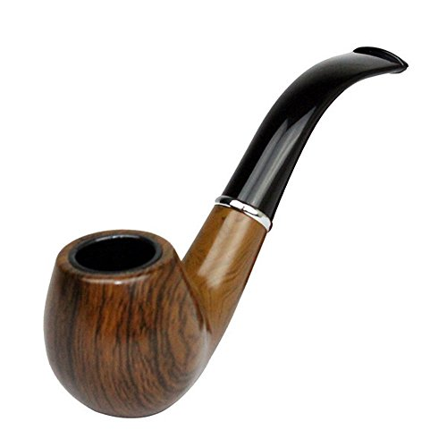Retro Vintage Wooden Enchase Smoking Pipe Tobacco Cigarettes Cigar Pipes Gift Durable