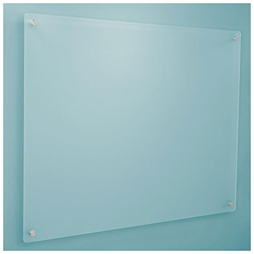 48 x 36 Frosted Glass Dry Erase Board with Markers and Eraser