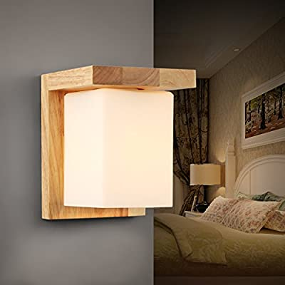 Injuicy Lighting Loft Industrial Vintage Sconces Wood Glass Edison Led Wall Light Study Bedroom Balcony Living Room Wall Lamps Fixtures Bar Cafe Home Lighting Decor