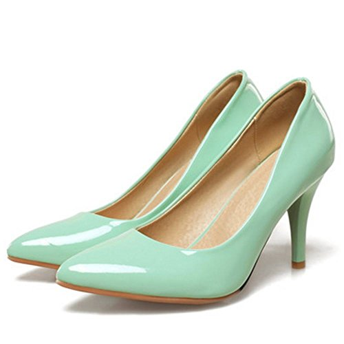 Dress Sale Classic Women Fashion Party KemeKiss Slip Pumps Stiletto Green Hot on Heel aqz5qwW4xO