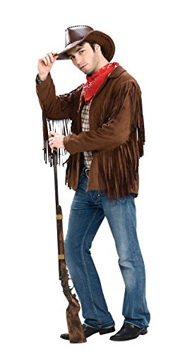 Costumes Buffalo Bill (Forum Novelties Men's Buffalo Bill Fringed Extra Large Costume Jacket, Brown,)
