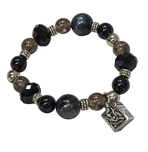 Cathedral Art Prayer Box Black Bead -