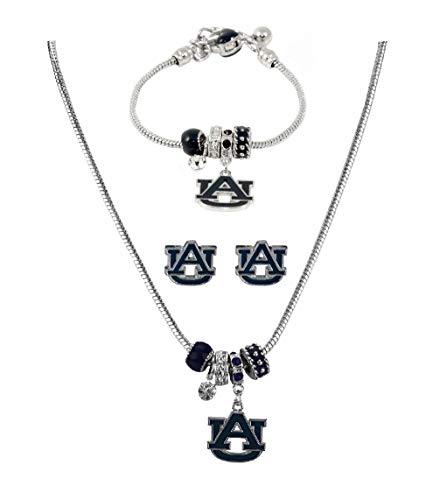 SANDOL Auburn University Tigers MVP Jewelry Combo (Bracelet, Necklace, Earrings) ()