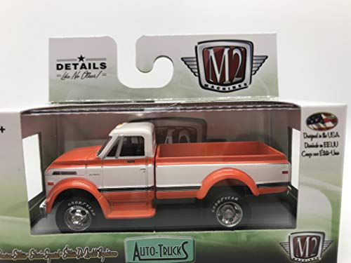 M2 Machines Auto-Trucks 1970 Chevrolet C60 Truck 1:64 Scale R46 17-86 Orange/White Details Like NO Other! Over 42 Parts 1 of 6888
