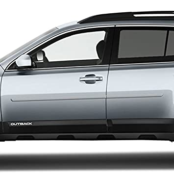 Heritage Blue Metallic Dawn Enterprises FE-Outback Finished End Body Side Molding Compatible with Subaru Outback P9Y