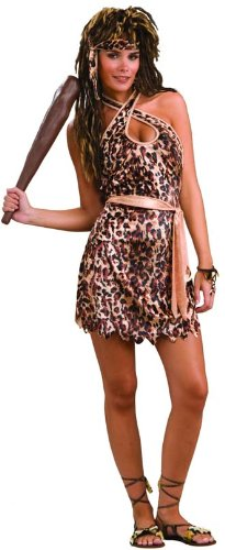 Woman's Cave Beauty Costume, Black/Brown, One Size