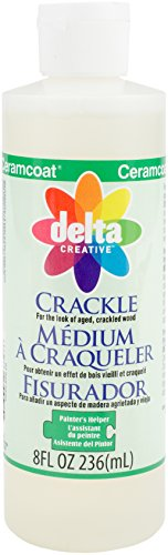 - Delta Creative Painters Helper Crackle Medium (8 Ounce), 70090800
