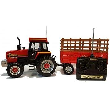 9aeb8a9395c9cd Tracteur radiocommandé Turbo Trac 990 avec remorque 50cm - inclus batterie  et chargeur