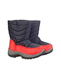 Mountain Warehouse Caribou Junior Snow Boots -Fleece Lined Winter Shoes