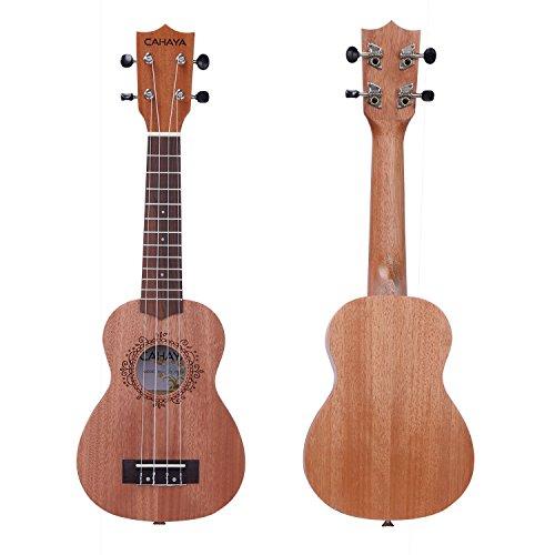 CAHAYA Ukulele Soprano 21 Inch Rosewood Fretboard 4 Strings Instrument for Beginner