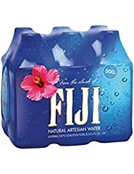 FIJI Natural Artesian Water, 16.9 Fl Oz Bottle (6-Pack)   Natural Electrolytes   BPA Free 500mL Bottle   Perfect for the office, kids and everyday hydration