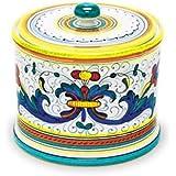 Arte D'Italia Imports Handmade Hand Painted Ricco Biscotti Jar - Handmade in Deruta
