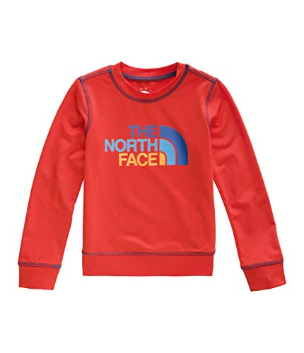 (The North Face Toddler Long Sleeve Hike/Water Tee, Fiery Red, 5T)