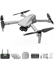 KF102 dobrável GPS 4k Drone Camera Gimbal Professional Brushless Quadcopter cinza branco 3 * baterias (3*batteries, gray white)