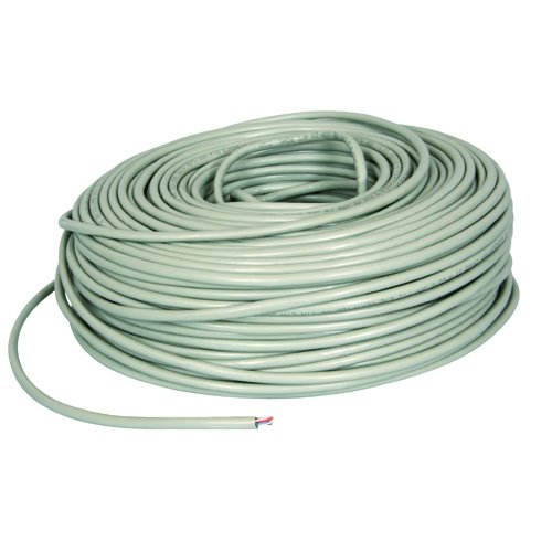 Bulk Hardware BH01492 CAT 5E Round Data Networking Ethernet Cable, Grey, 20 Metres (66 feet) ()