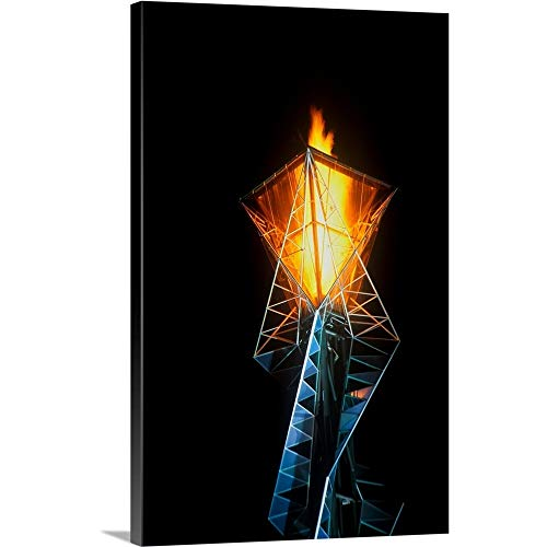 Gallery-Wrapped Canvas Entitled Olympic Torch at Night During The 2002 Winter Olympics, Salt Lake City, UT by Panoramic Images 16