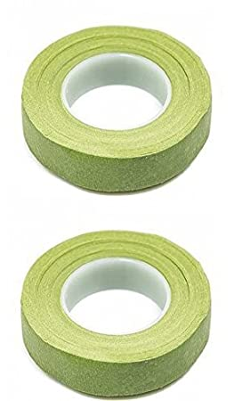 Mutli Color Rainbow Green Floral Tape Stem Wrap Gum Paste 1//2 X 30 Yards 180 Feet Total w// Flower Crafting eGuide 2 Pack, White