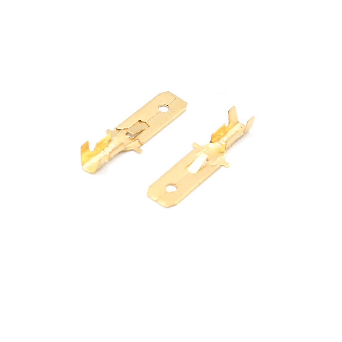 uxcell 200Pcs Gold Tone Male Spade Crimp Terminal Wiring Connector for Car Home
