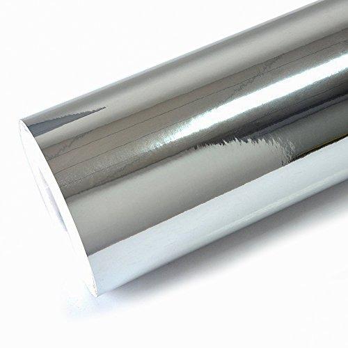TECKWRAP 11.5 x 55 Chrome Mirror Silver Vinyl Wrap Adhesive Car Sticker Decal Film