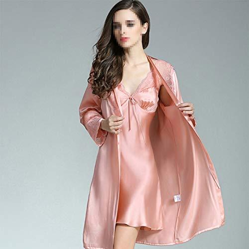 De Albornoz Ligera Otoño 01 color Seda Dos Size Pijamas Xxl 02 Vestido Piezas Felicigg Traje qEnpxx