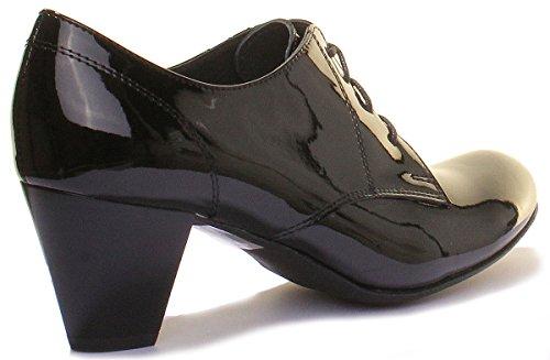 Reece pour verni Chaussures 1020 Justin noir de Ville Lacets à Femme FfdTw0qT