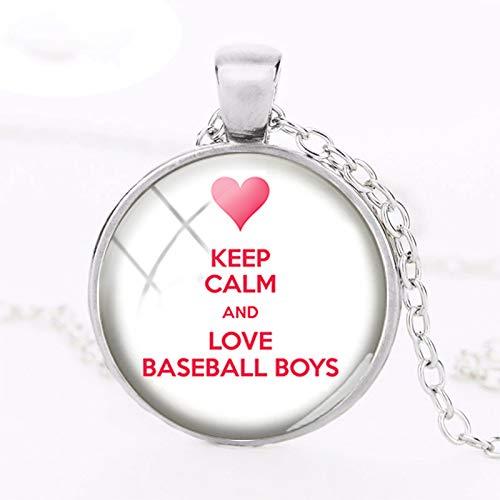 Collar con colgante de pelota de béisbol «Keep Calm and Love ...