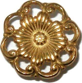 - Victorian Cast Brass Drawer Knob Pull Handle | Antique Cabinet, Vintage Cupboard, Old Desk Reproduction Restoration Hardware + Free Bonus (Skeleton Key Badge) | B-0307A (1)