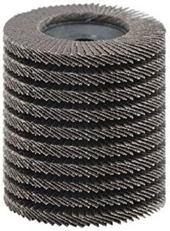 uxcell Car Polishing Aluminum Oxide 2 Inch High Density Flap Disc Sanding Grinding Wheel 120 Grit 20 Pcs