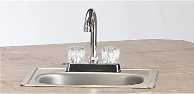 Bull Outdoor Products 12389 Standard Sink with Faucet, Stainless Steel